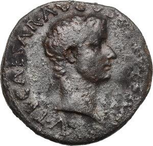 obverse: Tiberius as Caesar (4-14 AD).. AE As, Rome mint. Struck under Augustus, 8-10 AD