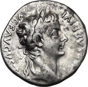 obverse: Tiberius (14-37 AD).. AR Denarius, Tribute Penny type. Lugdunum mint, 18-35 AD