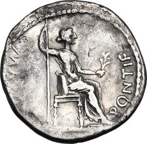 reverse: Tiberius (14-37 AD).. AR Denarius, Tribute Penny type. Lugdunum mint, 18-35 AD