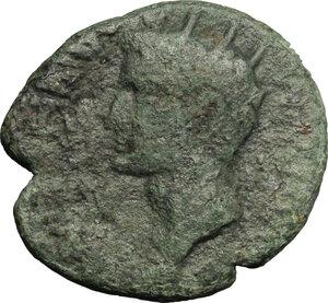 obverse: Reign of Tiberius (14-37). AE 24mm, Sicily, Panormos mint, duoviri: Cn. Domitius Proculus and A. Laetor, 14-37