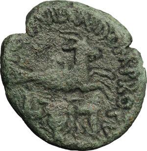reverse: Reign of Tiberius (14-37). AE 24mm, Sicily, Panormos mint, duoviri: Cn. Domitius Proculus and A. Laetor, 14-37