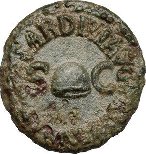 reverse: Gaius (37-41).. AE Quadrans. Struck 40-41 AD