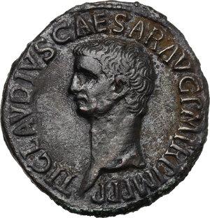 obverse: Claudius (41-54).. AE As, c. 50-54 AD