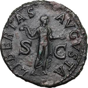 reverse: Claudius (41-54).. AE As, c. 50-54 AD