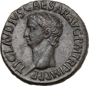 obverse: Claudius (41-54).. AE As, 50-54 AD
