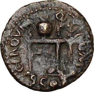 reverse: Nero (54-68).. AE Semis, 64 AD