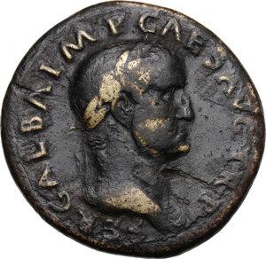 obverse: Galba (68-69).. AE Sestertius