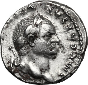 obverse: Vespasian (69-79).. AR Denarius, 75 AD