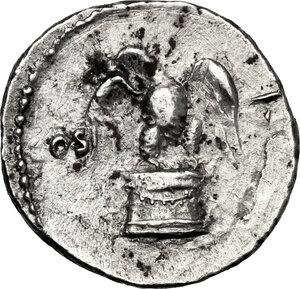 reverse: Vespasian (69-79).. AR Denarius, 75 AD