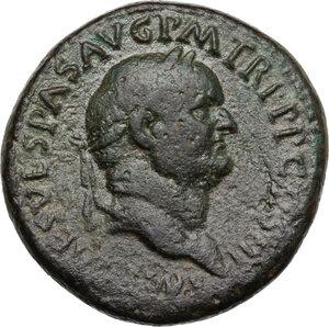 obverse: Vespasian (69-79) . AE Sestertius, Rome mint
