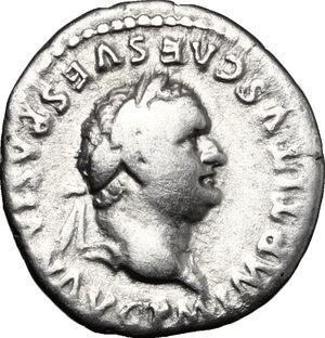obverse: Titus (79-81).. AR Denarius, 80 AD
