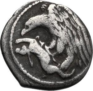 obverse: Akragas. AR Hemidrachm, c. 420-406 BC