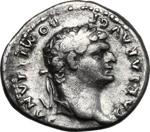 obverse: Domitian as Caesar under Vespasian (69-79).. AR Denarius, c. 77-78 AD