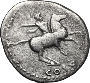 reverse: Domitian as Caesar under Vespasian (69-79).. AR Denarius, c. 77-78 AD