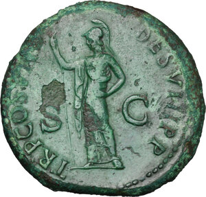 reverse: Domitian (81-96).. AE Sestertius, 81 AD
