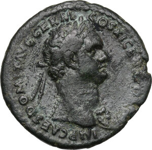 obverse: Domitian (81-96).. AE As, 85 AD