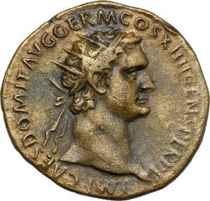 obverse: Domitian (81-96).. AE Dupondius, 88-89 AD