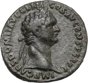 obverse: Domitian (81-96).. AE As, 90-91 AD