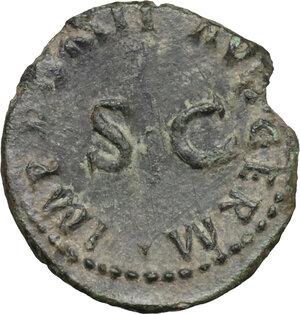 reverse: Domitian (81-96).. AE Quadrans