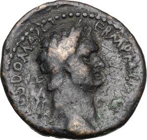 obverse: Domitian (81-96).. AE Assarion. Patrae mint (Achaea)