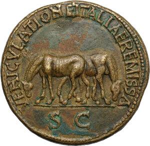 reverse: Nerva (96-98).. AE Cast 'Sestertius'. Paduan type