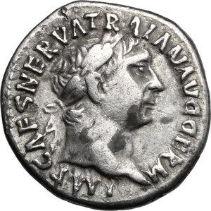 obverse: Trajan (98-117).. AR Denarius, 101-102 AD