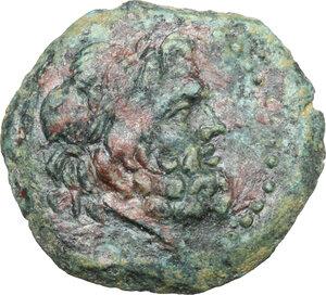 obverse: Akragas. AE 22 mm. 213-210 BC