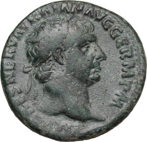 obverse: Trajan (98-117).. AE As, 101-102 AD