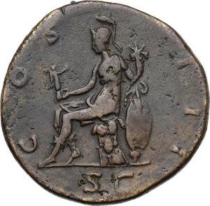 reverse: Hadrian (117-138).. AE Sestertius, 125-128 AD