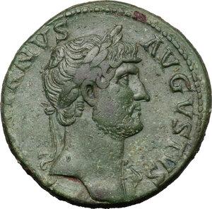 obverse: Hadrian (117-138).. AE Sestertius, 125-128 AD