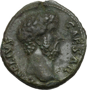 obverse: Aelius (Caesar 136-138).. AE Dupondius, 137 AD