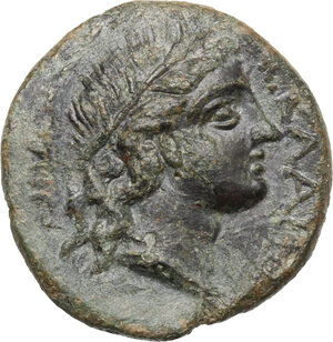 obverse: Akragas. AE 22 mm. after 210 BC