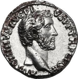 obverse: Antoninus Pius (138-161). Fourrée hybrid Denarius, 140-143 AD
