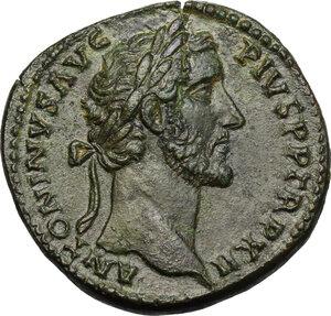 obverse: Antoninus Pius (138-161).. AE Sestertius, 148-149 AD