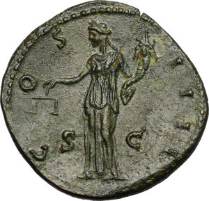 reverse: Antoninus Pius (138-161).. AE Sestertius, 148-149 AD