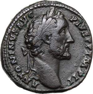 obverse: Antoninus Pius (138-161).. AE Sestertius, 155-156 AD