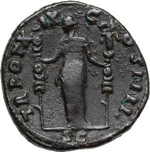 reverse: Antoninus Pius (138-161).. AE Sestertius, 155-156 AD
