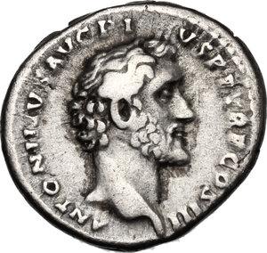 obverse: Antoninus Pius with Marcus Aurelius Caesar.. AR Denarius, 140-144 AD