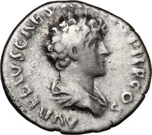 reverse: Antoninus Pius with Marcus Aurelius Caesar.. AR Denarius, 140-144 AD