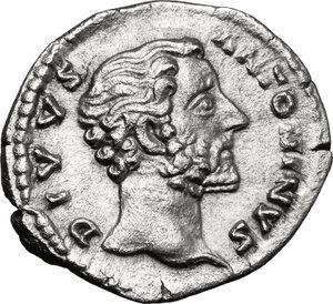 obverse: Antoninus Pius (Divus, after 161 AD).. AR Denarius, struck under M. Aurelius