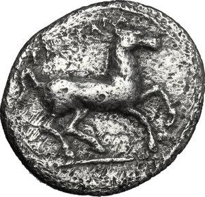 reverse: Entella. AR Hemidrachm, c. 404-368 BC