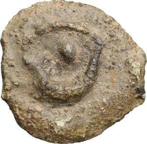 reverse: Umbria, Iguvium. AE Cast Uncia, c. 280-240 BC