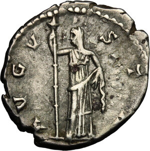 reverse: Faustina I, wife of Antoninus Pius (died 141 AD).. AR Denarius, 141 AD