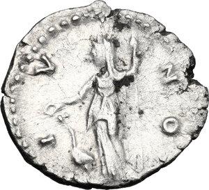 reverse: Faustina II, wife of Marcus Aurelius (died 176 AD).. AR Denarius