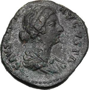 obverse: Faustina II, wife of Marcus Aurelius (died 176 AD).. AE As, struck under M. Aurelius