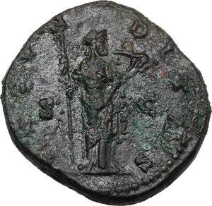 reverse: Faustina II, wife of Marcus Aurelius (died 176 AD).. AE As, struck under M. Aurelius