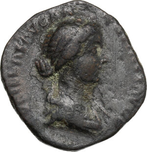 obverse: Lucilla, wife of Lucius Verus (died 183 AD).. AE As, struck under Marcus Aurelius