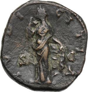 reverse: Lucilla, wife of Lucius Verus (died 183 AD).. AE As, struck under Marcus Aurelius