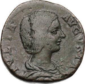 obverse: Julia Domna, wife of Septimius Severus (died 217 AD).. AE Sestertius, struck under Septimius Severus, 196-211 AD