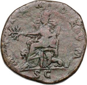 reverse: Julia Domna, wife of Septimius Severus (died 217 AD).. AE Sestertius, struck under Septimius Severus, 196-211 AD